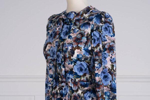 z kolekcji PRE-SPRING 2021, w błękitne kwiaty, z podszewką.