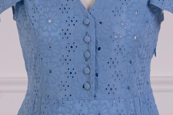 z kolekcji MID-SPRING 2021, w błękitnym kolorze, haftowana