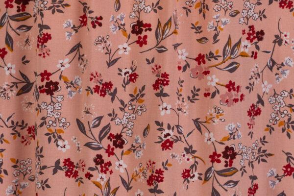 z kolekcji MID-SPRING 2021, w kwiatowe motywy, w różowym kolorze